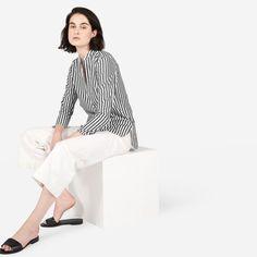 The Cotton Poplin Split-Neck Popover Shirt - Everlane