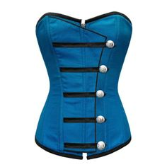 Especially in this Color!!! ND-140 - Turquoise Corset with Button Down Placket
