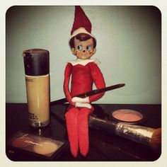 Adult Elf on a Shelf: leaves new make-up (or used) and certificate for shopping for makeup! :)