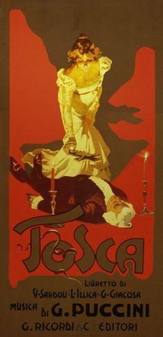 """""""Tosca"""", Adolfo Hohenstein, 1899"""