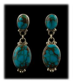 Stormy Mountain Turquoise Dangle Earrings by Craig Cadman