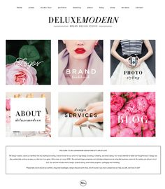 We love a new home page. Deluxemodern Design | Fall 2015