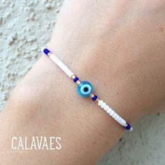Diy Bracelets Patterns, Handmade Jewelry Bracelets, Funky Jewelry, Beaded Bracelets, Boho Jewelry, Evil Eye Jewelry, Ear Jewelry, Bead Jewellery, Beaded Jewelry