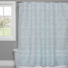 The Watercolor Lattice Shower Curtain By Saturday Knight Brings A Touch Of Pattern And Style To Your Bathroom Calming Colorway Complements