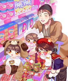 Jin eomma and her babies