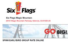 six flags 2 day pass