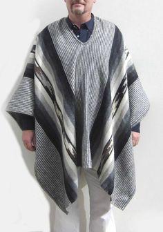Herren Peruanischer Original #Poncho #Alpakawolle Anden Schaman Inka, Kimono Top, The Originals, Winter, Tops, Women, Fashion, Ponchos, Clothing