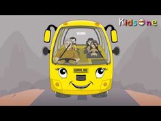 Wheels On The Bus - Nursery Rhymes - English Animated Rhymes-two lines