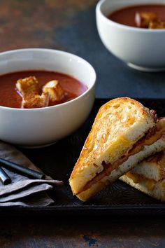 with Bacon and an Egg - Thick and hearty grilled cheese sandwiches ...