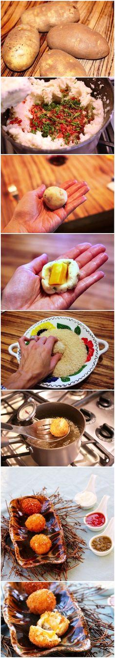 Boulettes de pomme de terre surprise