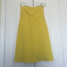J. Crew Strapless Yellow Dress