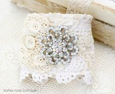 Vintage Jewel Cuff with Buttons