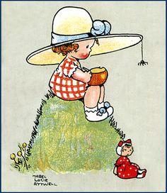 "Mabel Lucie Attwell - ""Little Miss Muffet"""