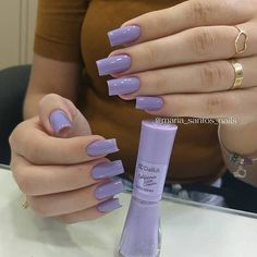 Gel Manicure Ideas Purple Nailart Ideas For 2019 Aycrlic Nails, Manicure And Pedicure, Hair And Nails, Manicure Ideas, Cute Acrylic Nails, Cute Nails, Pretty Nails, French Gel, Magenta Nails