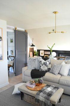 Black, Gray, and White Living Room