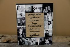 Picture Frame Photo Frame Unique best friend by InitialRemembrance