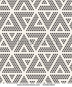 Modern Stylish Texture Repeating Geometric Tiles With Dotted Triangles Trendy Hipster Background Small Circles Form Triangular Minimalistic Ornament