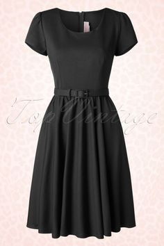Pinup Couture Katie Semi Swing Dress Black 102 20 16419 20150729 006W