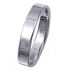 Breann: 4mm Classic Cigar Band Sterling Silver Wedding Band - Trustmark Jewelers