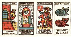 Social network tarot cards predict the predictable