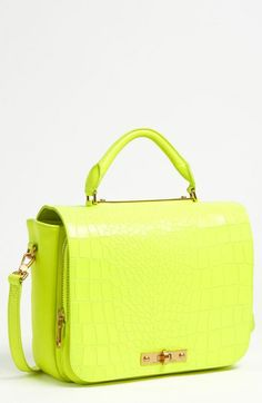 MARC BY MARC JACOBS 'Goodbye Columbus' Croc Embossed Leather Satchel