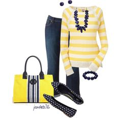 Navy and Yellow :)