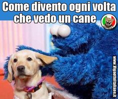 Come divento ogni volta che vedo un cane. (www.VignetteItaliane.it)