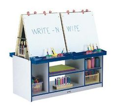 Kids Crafting Center For Multiple Projects At Once + Storage - Dream!