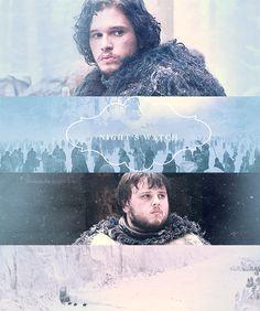 Jon and Sam ~ The Night's Watch ~ Game of Thrones Fan Art