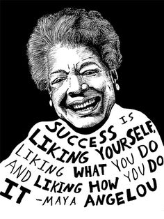 Maya Angelou  Etsy listing at https://www.etsy.com/ca/listing/124425235/maya-angelou-authors-series-by-ryan