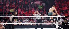 Roman Reigns Superman punching Cody Rhodes [Gif]