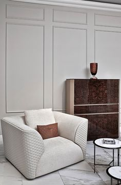 Winston' armchair, Alton' cabinet and Austin' coffee table for Bentley Home, September 2014