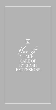 Whether you just got back from your first appointment with a lash artist, or have been wearing them for a while, learning how to take care of lash extensions is key to achieve the best retention and eye health possible! Once you'll learn some tips and tricks, you'll be able to enjoy beautiful, fresh-looking lashes on a daily basis👀 Read the full article on our blog to learn everything you need to know about taking care of your lashes post treatment Take Care Of Yourself, Eyelash Extensions, Eyelashes, Need To Know, Take That, Key, Fresh, Learning, Health