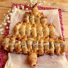 Albero di Natale di cornetti pasta sfoglia video ricetta il mio saper fare