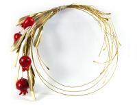 Olive Wreath, Christmas Diy, Christmas Ornaments, Lucky Charm, Felt Flowers, Clay Art, Ceramic Art, Pomegranate, Handicraft