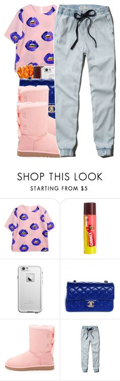 """""""Bed Of Lies~12/17/14"""" by glow-pop ❤ liked on Polyvore featuring UZI, Carmex, Chanel, UGG Australia, Abercrombie & Fitch, women's clothing, women's fashion, women, female and woman"""