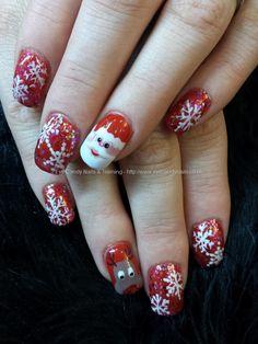Freehand xmas nail art santa, rudolf and snowflakes Taken at:29/11/2013 17:17:29 Uploaded at:03/12/2013 22:45:06 Technician:Elaine Moore