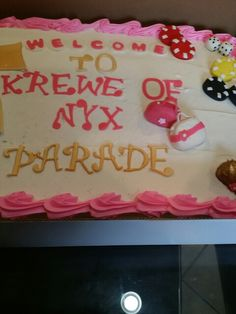 sheet cake Krewe of Nyx