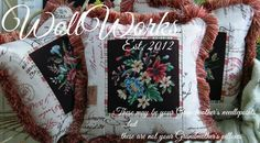Wollworks Salvaged Vintage Needlepoint Pillows