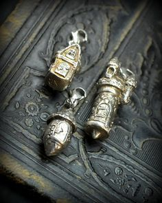 Fairy House Charms set of three by EAdornments on Etsy