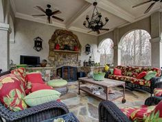 A welcoming, exciting, and colorful outdoor living area.  Marietta, GA Coldwell Banker Residential Brokerage $4,000,000