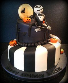 Nightmare Before Christmas Birthday Cake - Cake by Kelly Ellison