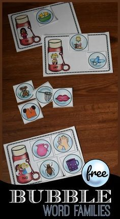 FREE Bubble Word Families - this free printable word families activity is such a fun activity for preschool kindergarten and first grade kids to practice word families reading phonics and more. This is great for summer learning literacy centers and more. Bubble Activities, Word Family Activities, Rhyming Activities, Preschool Literacy, Kindergarten Reading, Kindergarten Activities, Phonics Games, Language Activities, Literacy Stations