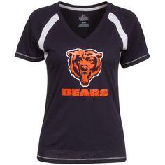 Chicago Bears Women's Football Classic IV Full Zip Hoodie Sweatshirt - Navy Blue