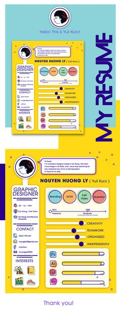 Amazing CV of Yuii Kuro. Find more inspiration for creative resumes and personal branding at www.pinterest.com/olympiaresume/creative-resumes-personal-branding/