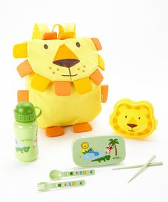 Take a look at this Yellow Lion Safari Friends Travel Lunch Set by green sprouts on #zulily today!