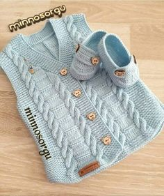 Mesude Yolcus media content and analytics - Jumpsuits and Romper Ladies Cardigan Knitting Patterns, Knitting Patterns Free Dog, Knit Vest Pattern, Baby Sweater Knitting Pattern, Knitting Designs, Baby Patterns, Baby Knitting, Baby Cardigan, Crochet Baby Sweaters