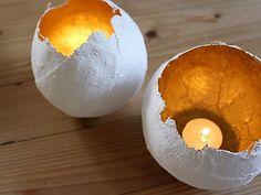 schalen aus gipsbinden luftballon und blattgold basteln mit kindern pinterest gipsbinden. Black Bedroom Furniture Sets. Home Design Ideas