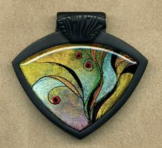 pendant by Polydogz. Susan is the master of bezels and loops. Perfect.