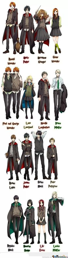 If Harry Potter Was An Anime!!!